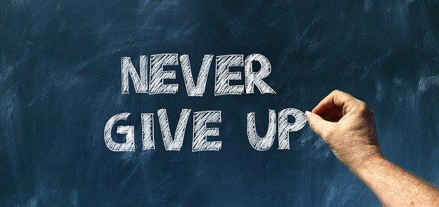 nikdy to nevzdávejte