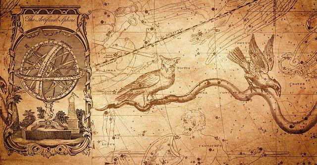 souhvězdí na mapě