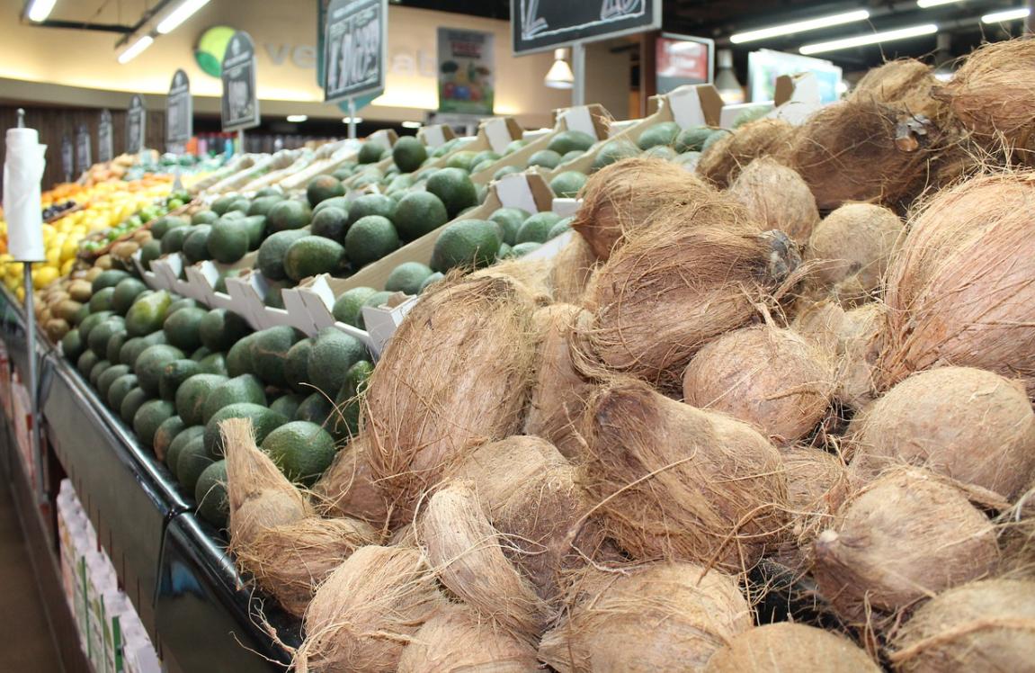 trh a kokosy
